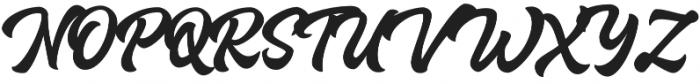 Houstander Allcaps otf (400) Font UPPERCASE