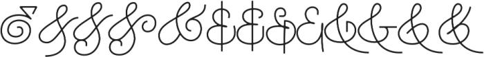 Houstoner Ampersand Regular otf (400) Font UPPERCASE