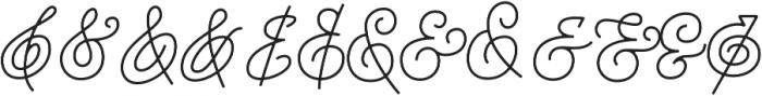 Houstoner Ampersand Regular otf (400) Font LOWERCASE