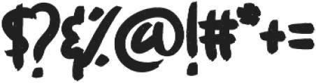 However Store Vintage otf (400) Font OTHER CHARS