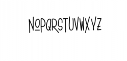 House story Font LOWERCASE