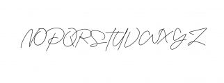 Housttely Signature Font UPPERCASE