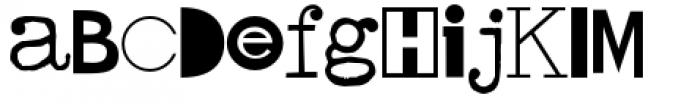 Hodgepodge Font UPPERCASE