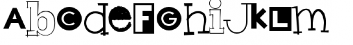 Hodgepodge Font LOWERCASE