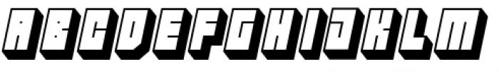 Hounslow Shadow Italic Font UPPERCASE