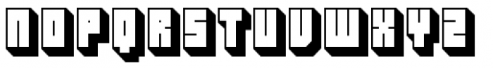 Hounslow Shadow Font UPPERCASE