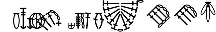 HookinCrochet Symbols 2 Font Software Font LOWERCASE