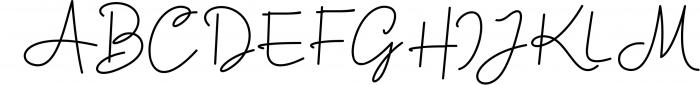 Housttik Handwritten Script Font UPPERCASE