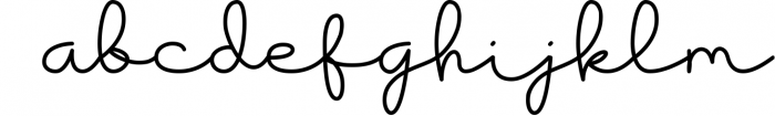 Housttik Handwritten Script Font LOWERCASE
