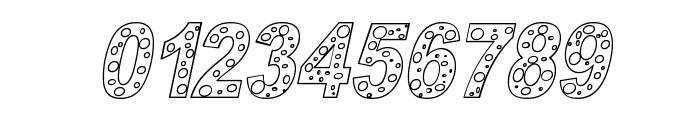 HOLE 3 cursive outline Font OTHER CHARS