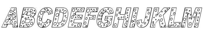 HOLE 3 cursive outline Font UPPERCASE
