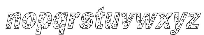 HOLE 3 cursive outline Font LOWERCASE