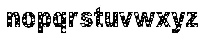 HOLE Font LOWERCASE