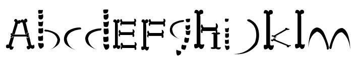 HONEBONE Ukokkei Font LOWERCASE
