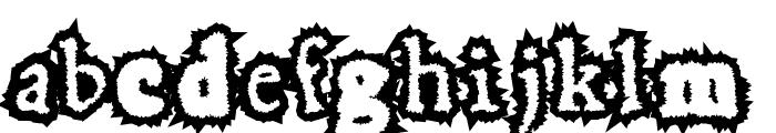 HoaryGaut Font LOWERCASE