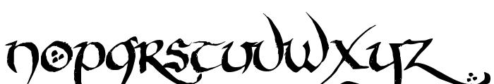 Hobbiton BrushhandHobbiton brush Font LOWERCASE