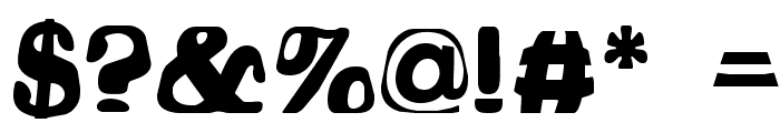 Hodad Warped One Font OTHER CHARS