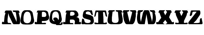 Hodad Warped One Font UPPERCASE