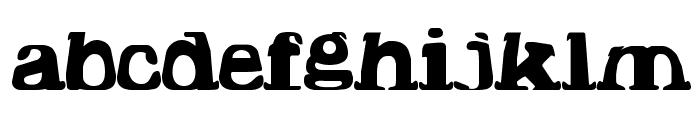 Hodad Warped One Font LOWERCASE