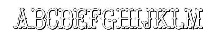 Hoedown Shadow Font LOWERCASE
