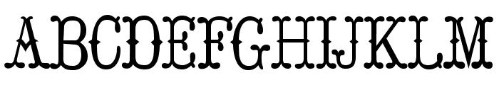 Hoedown Font UPPERCASE