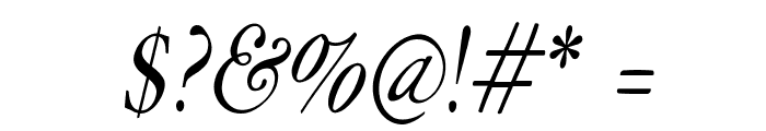 HoffmanFL-Oblique Font OTHER CHARS
