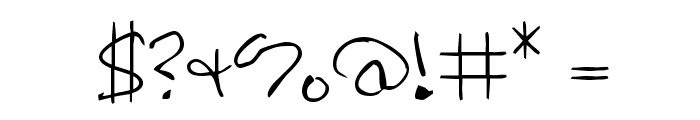 Hoffmanhand Font OTHER CHARS