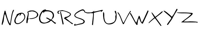 Hoffmanhand Font UPPERCASE