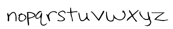 Hoffmanhand Font LOWERCASE