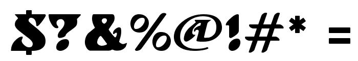 Hoffmann Regular Font OTHER CHARS