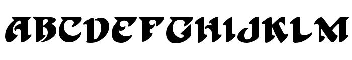 Hoffmann Regular Font UPPERCASE