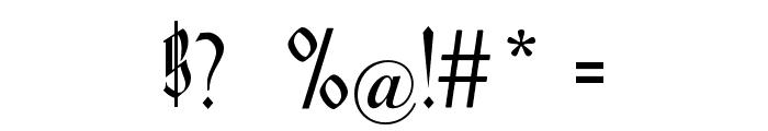 Hofstaetten Font OTHER CHARS