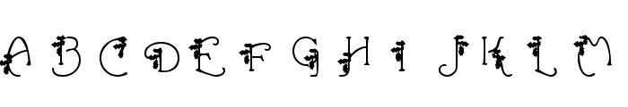HolLeigh Caps Font UPPERCASE