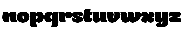 Holden Trial Fat Font LOWERCASE