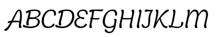 Holden Trial Light Italic Font UPPERCASE
