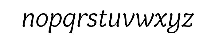 Holden Trial Light Italic Font LOWERCASE