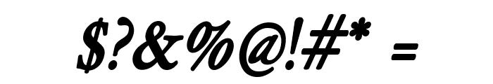 HollaMediaeval-BoldOblique Font OTHER CHARS