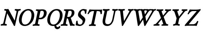 HollaMediaeval-BoldOblique Font UPPERCASE