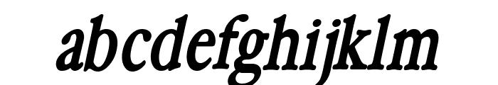 HollaMediaeval-BoldOblique Font LOWERCASE