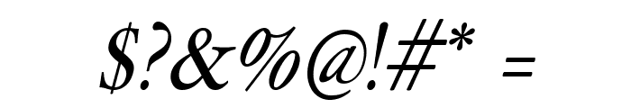 HollaMediaeval-Oblique Font OTHER CHARS