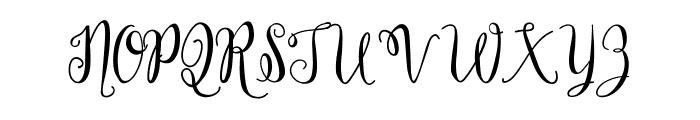 Holland Font UPPERCASE