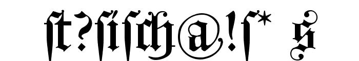 HollandGotisch Font OTHER CHARS