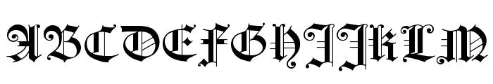 HollandGotisch Font UPPERCASE