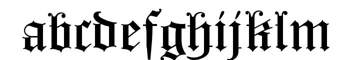 HollandGotisch Font LOWERCASE