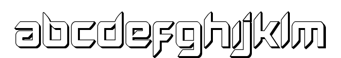 Hollow Point 3D Font UPPERCASE