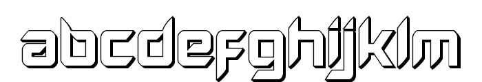 Hollow Point 3D Font LOWERCASE