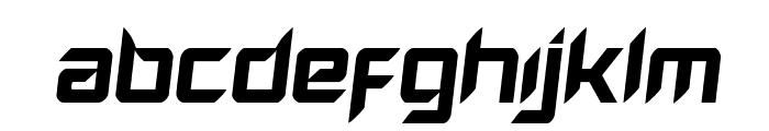 Hollow Point Semi-Italic Font UPPERCASE