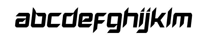 Hollow Point Semi-Italic Font LOWERCASE