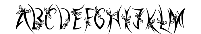 Holly Christmas Font LOWERCASE