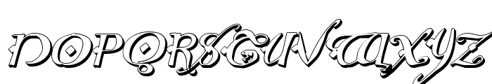 Holly Jingle 3D Italic Font UPPERCASE